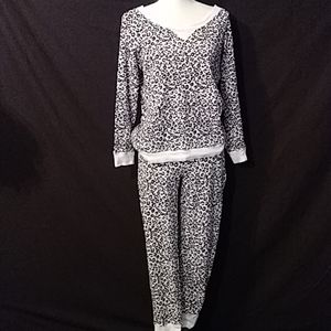 Victoria's Secret thermal animal print pajamas